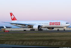 Aviation Photo Boeing - Swiss International Air Lines European Airlines, Turkish Airlines, Boeing Aircraft, Passenger Aircraft, Boeing 777 300, Swiss Air, Airplane Photography, International Airlines, Airplane Travel