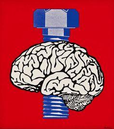 Cérebro, por Claudio Tozzi. Pop Arte brasileiro