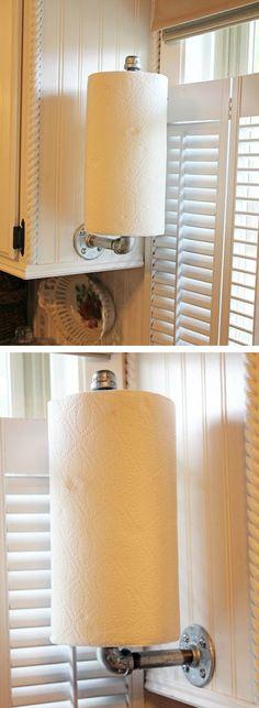 #DIY Industrial Paper Towel Holder
