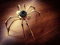 'Arachnophobia' table clock, co-created by MB&F and @lepee_1839 #arachnophobia #lepee1839 #tableclock #clock #spider - #steampunktendencies #steampunk #clockwork #clockpunk