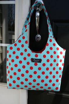 Boho Bag in Aqua Dot by ElisaLou on Etsy, $65.00