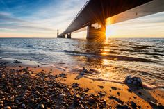 Sunset under the bridge by Thomas Mørkeberg on 500px
