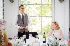 Bride laughs during the Grooms speech at Somerford Hall, Brewood Groom's Speech, Grooms, Wedding Photography, Bride, Fashion, Wedding Bride, Moda, Boyfriends, Bridal