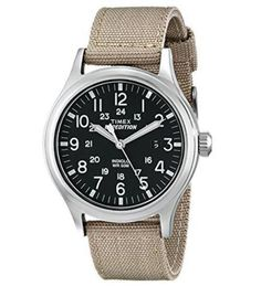 Timex-T49962-Buckle-Closure-Expedition-Scout-with-Beige-Nylon-Strap-Wrist-Watch