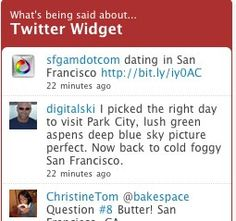 Twitter now offering live updating Twitter widget Park City, This Or That Questions, Sayings, Live, Twitter, Day, Lyrics, Quotations, Idioms
