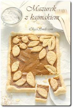 Mazurek z kajmakiem Sweet Recipes, Easter, Sweets, Baking, Food Ideas, Cook, Sweet Pastries, Bread Making, Gummi Candy