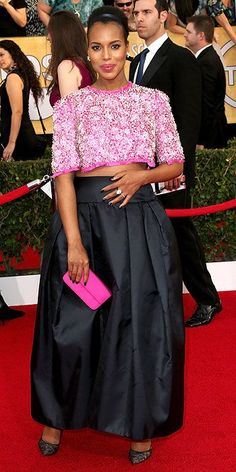 Kerry Washington arriving at the 2014 SAG Awards.