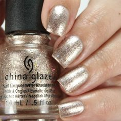 China Glaze-Beach It Up (Spring Fling - Spring Beach Nail Designs, Talk To The Hand, Gold Nail Polish, Beauty Secrets, Beauty Tips, Hair Beauty, Beach Nails, Fancy Nails, China Glaze