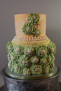 Cup a Dee Cakes Blog: Buttercream Ruffle Flower Cake + Tutorial!