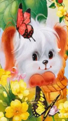 Have a sweet day <br> Friends Gif, Dog Friends, Gif Mignon, Cute Gifs, Beau Gif, Puppy Images, Sweetest Day, Beautiful Gif, Happy Birthday Wishes