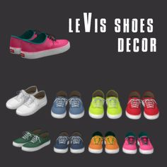 Lana CC Finds - Levis Decor Shoes by Leosims