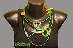 [Colar] C #67 (*kathamina) Tags: necklace handmade crochet jewelry colar freeformcrochet kawool