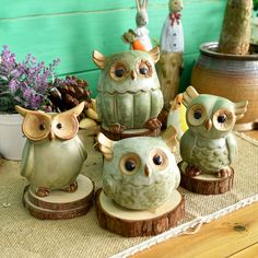 Cheap craft pompoms, Buy Quality craft keychain directly from China craft ideas for birthday gifts Suppliers: Ceramic Owl Figurines Japanese Rural Style Retro Artificial Handmade Porcelain Animal Statuettes Home Decor Gifts Crafts Porcelain Dolls Value, Porcelain Tile, White Porcelain, Owl Home Decor, Clay Owl, Cerámica Ideas, Cute Piggies, Ceramic Owl, Style Retro