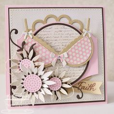 the sweetest thing...  I love this breast cancer awareness card