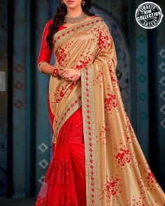 Be The Style Icon In This Engagement Saree Exclusively From The House Of Simaaya Fashions. http://www.simaayafashions.com/engagement-art-silk-saree-in-red-colour-prfa7985  SimaayaFashions#HalfAndHalfSaree#WeddingCollection#PartyWear#FestiveCollection#OnlineShopping