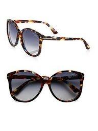 Tom Ford Eyewear Alicia Round Acetate Sunglasses