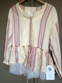 Krista Larson Underpinning Jacket in Striped Silk