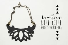 Leather Cut-Out Bib Necklace