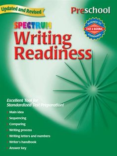 Spectrum Writing Readiness helps preschoolers trace and write letters, numbers, and objects, put events in sequential order, understand the writing process, and follow simple directions