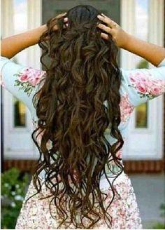 Long curly hair