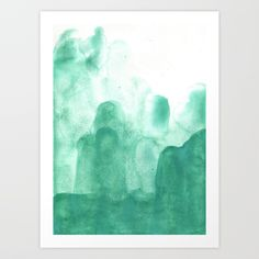 Abstract, colorful, watercolor fine art print. Great for interior design and giving your room a pop of color, with a modern and contemporary twist.