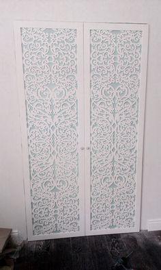 Laser cut wardrobe doors