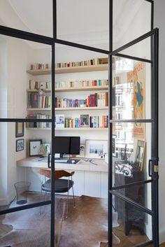 Porte battante atelier artiste à deux vantaux