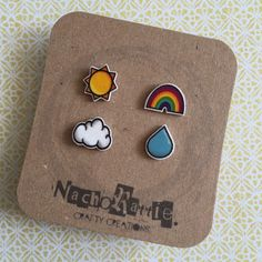 Random Weather Shrink Plastic Earring Set by nachorattie on Etsy