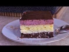 Tortowy puszek z kremem budyniowym z pianką owocową - YouTube