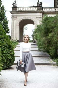 Classic Chic, Flannel, Midi Skirt, Skirts, Photography, Blouses, Stylish, Instagram, Tops