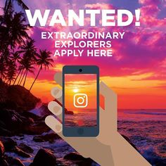 We're looking for an #ExtraordinaryExplorer for a 3 week Instagram Intern-ship next summer! The candidate will sail the seas capturing incredible content and uncovering amazing stories.  Want to apply? Post an extraordinary travel photo or video on Instagram, tagging @RoyalCaribbeanUK and using #ExtraordinaryExplorer!  Applicants must be 21 and over. UK & Ireland residents only. T&C's apply: https://www.royalcaribbean.co.uk/extraordinary-intern-ship/