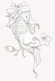 110 Best Japanese Koi Fish Tattoo Designs and Drawings - Nicholas Grimm . , 110 Best Japanese Koi Fish Tattoo Designs and Drawings - Nicholas Grimm . Japanese Koi Fish Tattoo, Koi Fish Drawing, Fish Drawings, Art Drawings Sketches, Tattoo Sketches, Flower Drawings, Easy Animal Drawings, Japanese Drawings, Pencil Drawings