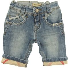 Burberry Baby Boys Bleach Blue Jeans With Turn Ups ($86) ❤ liked on Polyvore featuring baby, baby boy, baby clothes and kids