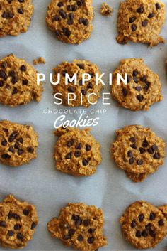 Healthy Pumpkin Spice Chocolate Chip Cookies | www.TheDietChefs.com