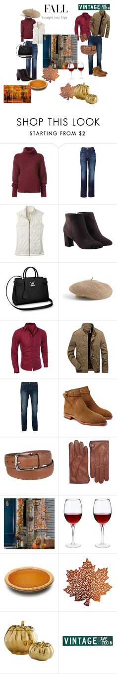 """""""Autumn dinner with friends"""" by april-parisien on Polyvore featuring BY. Bonnie Young, AG Adriano Goldschmied, prAna, Avon, Venus, Bellfield, R.M.Williams, Tommy Hilfiger, Black Brown 1826 and Improvements"""