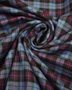 Brushed Cotton Fabric   Blue & Pink Tartan   Truro Fabrics