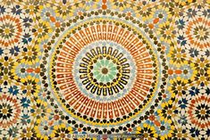 Fountain mosaic with Islamic patterns-Alfred Molon