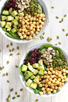 Quick & Easy Healthy Fall Dinners! This Chickpea Fall Salad is the best!