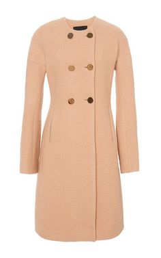 Rounded Double Breasted Long Coat  by Derek Lam Now Available on Moda Operandi