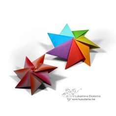 Kusudama Me! - Modular origami!  totally making these in Christmas colors!