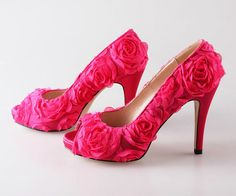 Roes red handmade wedding shoes party prom shoes pumps peep toe heels