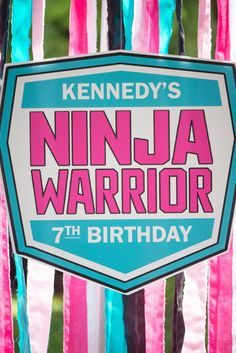 An American Ninja Warrior Birthday Party Ninja Birthday Cake, Ninja Birthday Parties, Ninja Party, Birthday Party Themes, 8th Birthday, Birthday Ideas, Ninja Cake, American Ninja Warrior Girl, Kids Ninja Warrior