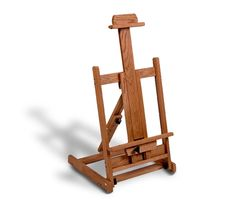 Solid Oak Table Top Easel Stands Tall Base Foot Print Of X Height Will  Adjust Up To Tall Will Hold Up To A Canvas Adjustable Bottom Canvas Holder,  ...