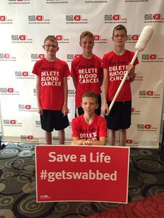 Today we are swabbing with the at the Great American Ball Park to add more potential lifesavers to the registry.