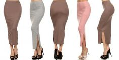 Long Fitted Skirt | toadorn.com