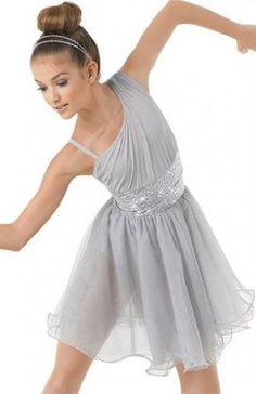 inlzdz Lyrical Women Adult Sequins Ballet Dance Flowy Dress Criss-Cross Camisole Dancing Leotards