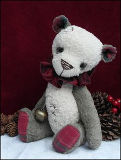 Jingles 12 inch vintage christmas style panda. art by forrestfairy
