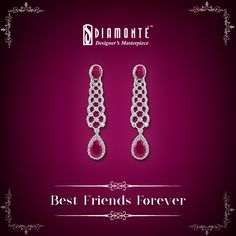 Diamonds are a girl's best friend. Our timeless masterpieces? Your Best Friends For Life. #Diamonte #DiamondJewelry #EthnicJewelry #RoyalJewelry #girlsbestfriend #diamond #jewellery #lookgood #diamondsareforever Mail us at diamonte.gk@gmail.com or log on to www.diamontejewels.com
