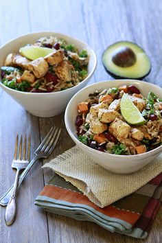 Fall Mexican Rice Bowls | Simple, Easy, Everyday Recipes | Good Life Eats / can omit chicken