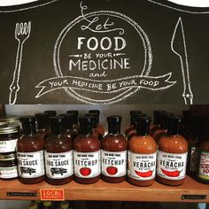 Let your food be your medicine. Good advice from @bonvivantco #delray find all #TrueMade sauces there. #eatrealfood #eatclean #dcfoodporn #dcfoodie #dcfoodies #eatUSA #familybbq #delrayva #alexandria #alexandriava #nongmo #lesssugar #lesscalories #lesssugarmorenutrients #morevegetables #omnivore #omnivores #butternutsquash #carrots #spinach #ketchup #bbqsauce #veracha
